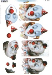 3d Easymake - Clowns       11055-069 3D Easymake Easy to follow instructions