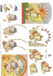 3d Easymake - Elephant Fun     11055-054 3D Easymake Easy to follow instructions