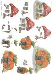 3d Easymake - Gnomes Homes      538 3D Easymake Easy to follow instructions