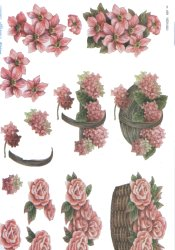3d Easymake - Baskets Of Flowers         469 3D Easymake Easy to follow instructions
