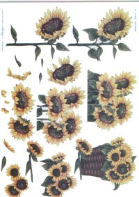 3d Easymake - Sunflowers    448 3D Easymake Easy to follow instructions
