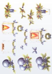 3d Easymake - Xmas Baubles & Candles        566 3D Easymake Easy to follow instructions