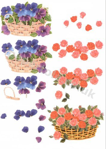 3d Easymake - Flowers and Baskets       416913 3D Easymake Easy to follow instructions