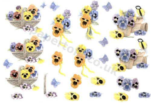 3d Easymake - Pansies      601 3D Easymake Easy to follow instructions