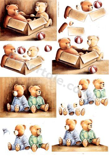 Bears In A Box     4169638 3D Easymake Easy to follow instructions