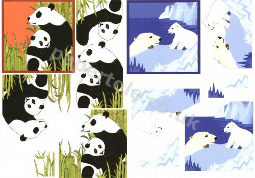 Polar Bear and Pandas     4169627 3D Easymake Easy to follow instructions
