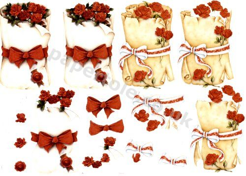 Scroll of Roses   ***MAKES 2 CARDS*** 4169.663 3D Easymake Easy to follow instructions
