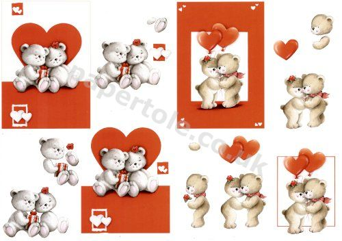 My Special Bear ***MAKES 2 CARDS*** 4169.653 3D Easymake Easy to follow instructions