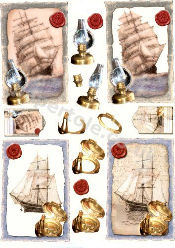 Ship and Compass     11055-223 3D Easymake Easy to follow instructions