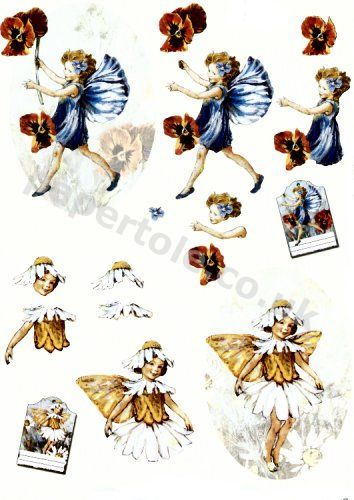 Flower Fairies     11055-254 3D Easymake Easy to follow instructions