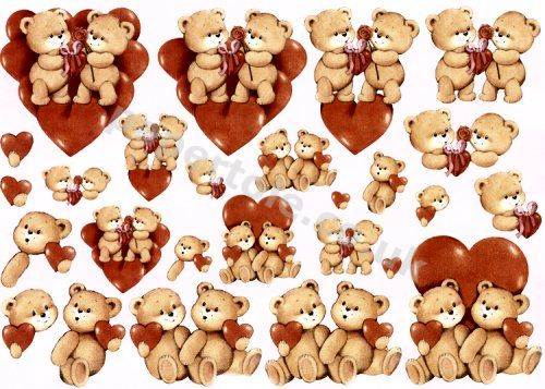 Romantic Bears - Large and Small     E530 3D Easymake Easy to follow instructions