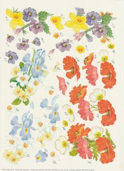 Spring Flowers - A4 Step by Step . *