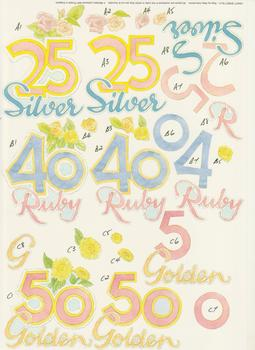 Silver, Ruby, Golden Wedding Anniversary - A4 Step by Step . *