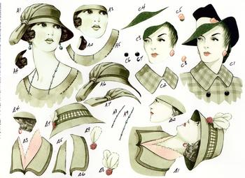 Vintage Ladies - A4 Step by Step . *