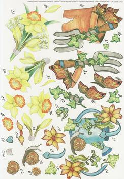 Gardening & Daffodil Step by Step Sheet - No7 . -