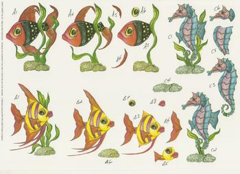Fish & Seahorse  - Step by Step - No 43          . *