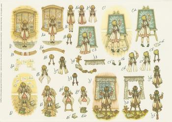 Craft Sheet No 42 - Cute Old Fashioned Girl by Michael Lockwood . -