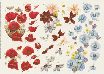 FLOWERS including PANSIES - Craft Sheet No 68 . -Jacksons mail Order