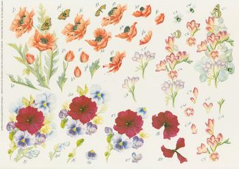 Step by Step - Crafts Sheet No 59 Pansies and Butterflies . Jacksons