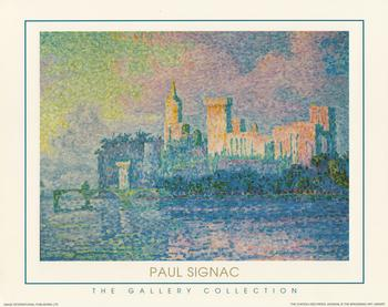 The Gallery Collection - The Chateau Des Papes Avignon by Paul Signac  10