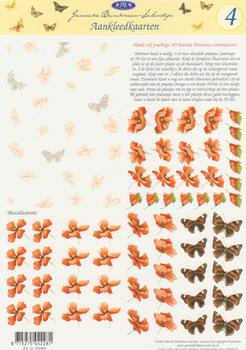Pack of 10 - Jenneke Brinkman-Salentijn - Background and Topper Sheet Butterfly and Flower 4 . JBS