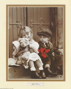 Jeff Kaine Print - Girl , Boy Teddy and Red Roses - 10