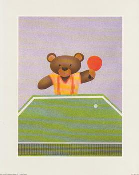 Decoupage Print - Teddy Sport - Table Tennis www.papertole.co.uk