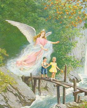 Decoupage Print - Children with Guardian Angel www.papertole.co.uk
