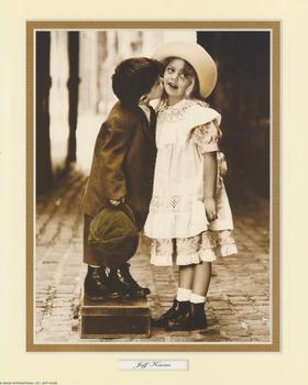 Jeff Kaine Print - Boy on Suitcase Kissing Girl - 10