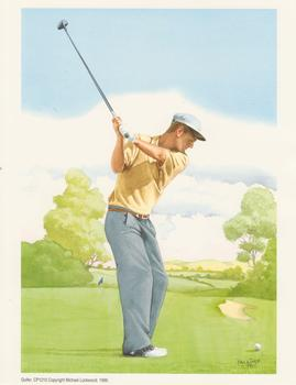GOLFER BY Falkiner A Michael Lockwood Print CP1210 7