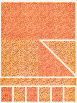 220g Orange Patterned Backing Card www.papertole.co.uk