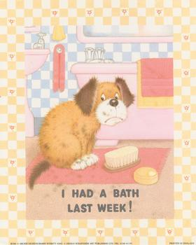 I had a Bath Last Week - by Archie Dickens/Barry Everett B2284 Print - 10