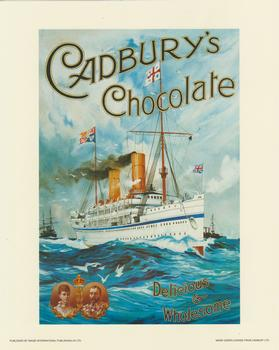 Cadburys Chocolate Print - H.M.S Ophir on her maiden voyage . -