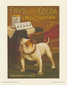 Frys Cocoa & Milk Chocolate 'UNAPPROACHABLE' Print papertole