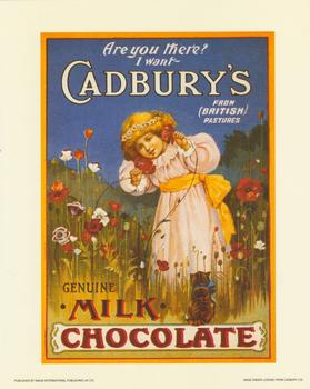 Cadburys Chocolate Print - Are you  there? by Image International . papertole