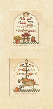 Panel of Two prints - Pumpkins and Apples - Card Topper . Jacksons