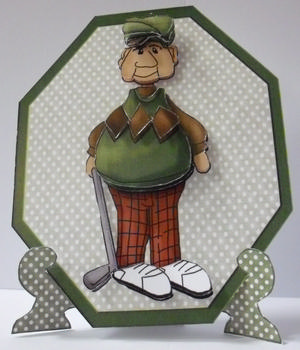 Plate Card **Best Wishes - Male Golf Sheet** pl0002 JMO
