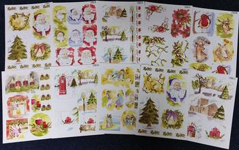 Pack of 10 - Christmas Die Cut Sheets -51 52 53 54 55 56 58 59 61 62 .