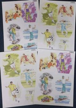 4 x Teenage Sports Hobby - Skateboard & Football Die Cut Sheets 78 &79 -