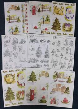 Pack of 9 Christmas Tree Themed Die Cut Packs 2158 2159 2157 2155 637 645 643 2156 2153 -
