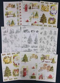 Pack of 9 Christmas Tree Themed Die Cut Packs 2158 2159 2157 2155 637 645 643 2156 2153 -