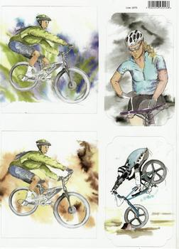 A4 Cyclist, BMX, Mountain Bikes Diecut Sheet 2075 . *
