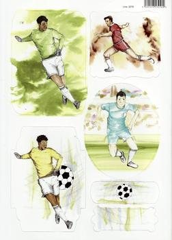 Sports Themed - Footballer Painted in Water Colours - Topper - 2078 . -