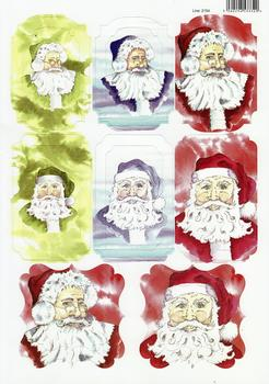 A4 Christmas Santa Santa Santa - Diecut Sheet - 2154 . *