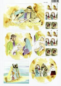 A4 Christmas Nativity Scenes - Diecut Sheet 2162 . *