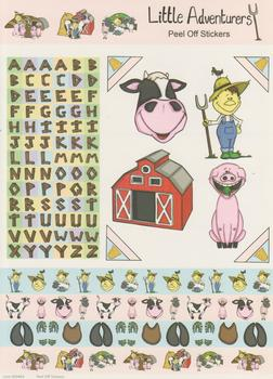 A4 Farmyard Themed Stickers - Pig Farmer and Alphabet Themed Sticker Sheet - 464 .