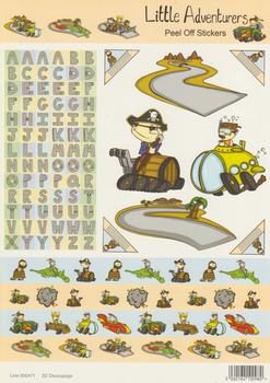 A4 Pirate Themed Stickers with the Alphabet and Submarine - 471 .