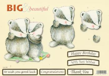 Badger Family  - Big and Beautiful - Happy Birthday / Congratulations / Best Wishes / Good Luck / Thank You - 580 .