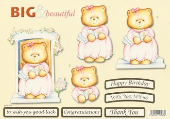 Beautiful Wedding Teddy Bear - Big and Beautiful - Happy Birthday / Congratulations / Best Wishes / Good Luck / Thank You - 584 .
