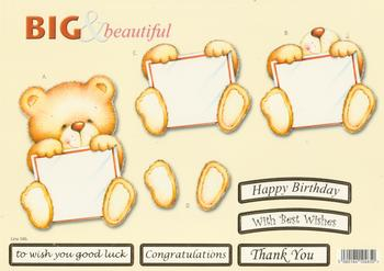 Teddy Bear with a Letter - Big and Beautiful - Happy Birthday / Congratulations / Best Wishes / Good Luck / Thank You - 586 .